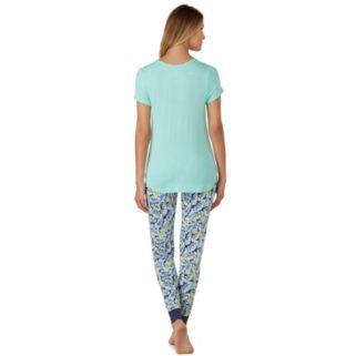 Women's Cuddl Duds Pajamas: Color Fusion Henley & Jogger Pants PJ Set