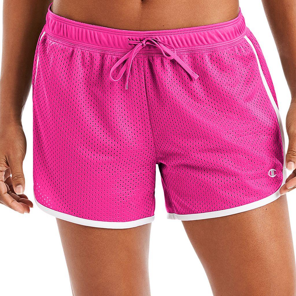 Women's Champion Contrast Trim Mesh Shorts