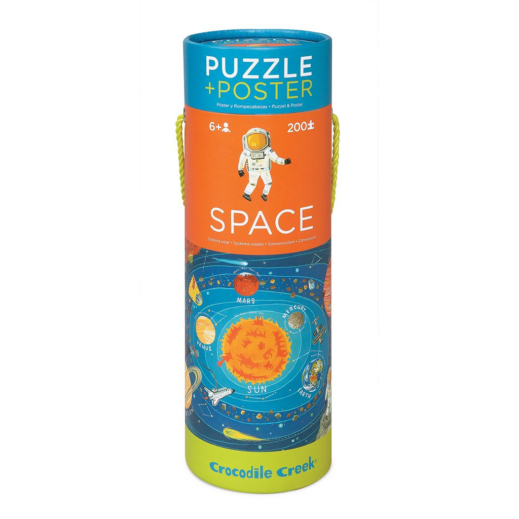 Crocodile Creek Space Exploration 200-pc. Jigsaw Puzzle & Matching Poster
