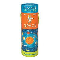 Crocodile Creek Space Exploration 200 pc Jigsaw Puzzle & Matching Poster