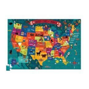 Crocodile Creek USA Map 200-pc. Jigsaw Puzzle & Matching Poster