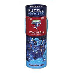 Crocodile Creek Football America 200-pc. Jigsaw Puzzle & Matching Poster  by