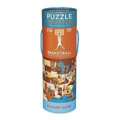 Crocodile Creek Basketball America 200-pc. Jigsaw Puzzle & Matching Poster  by