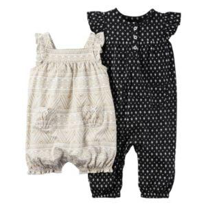 Baby Girl Carter's Print Jumpsuit & Sunsuit Set