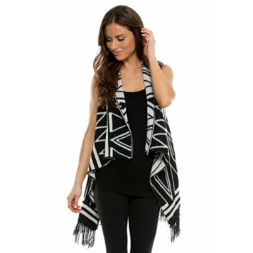 Women's E by Elan Geometric Reversible Vest