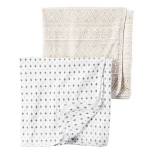 Baby Carter's 2-pk. Tile & Mosaic Swaddles