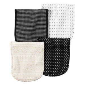 Baby Carter's 4-pk. Tile & Mosaic Burp Cloths