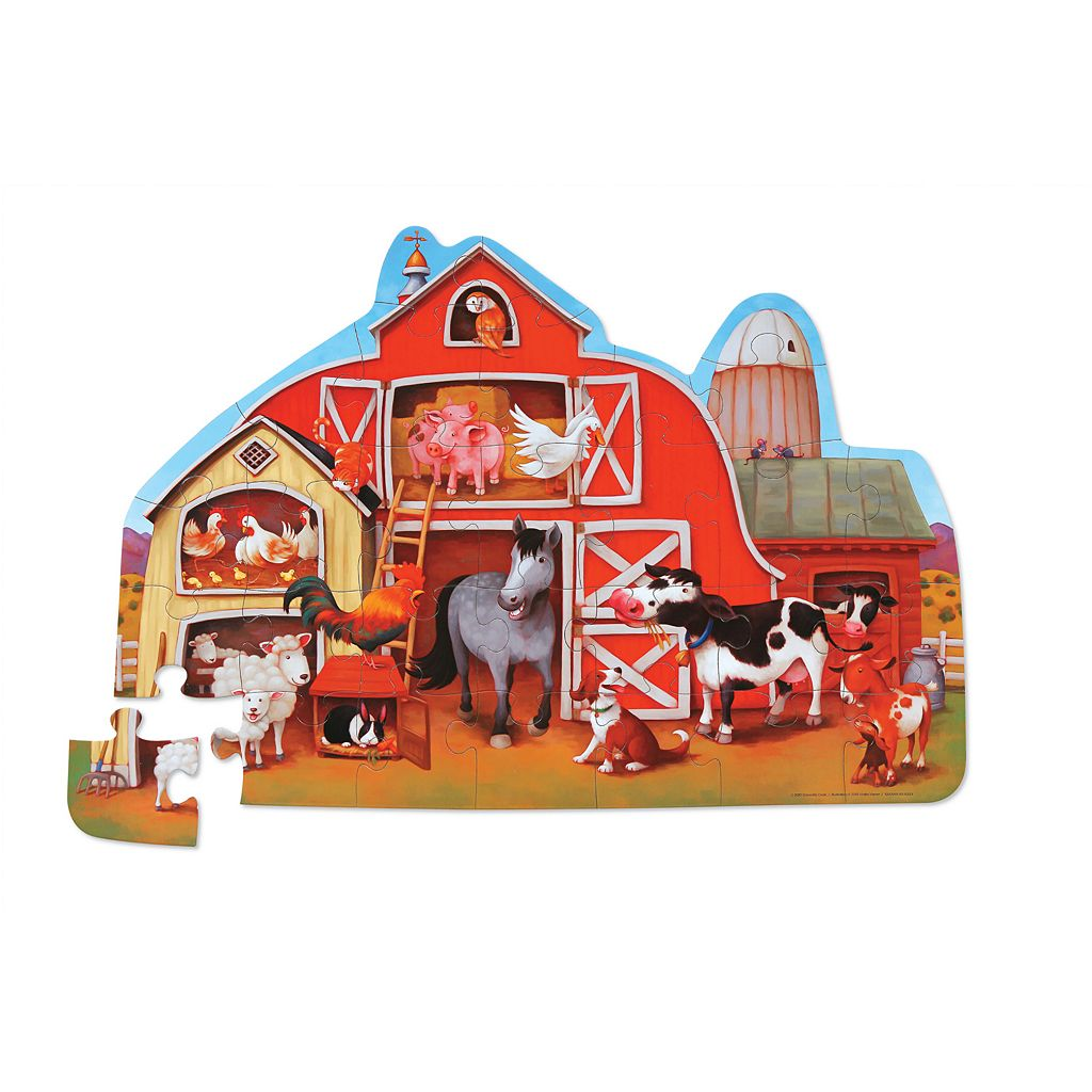 Crocodile Creek Barnyard 36-pc. Jigsaw Floor Puzzle