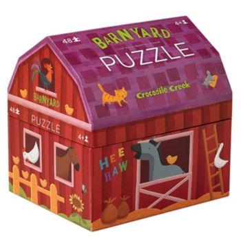 Crocodile Creek Barnyard Banter Double Fun 48-pc. Jigsaw Puzzle