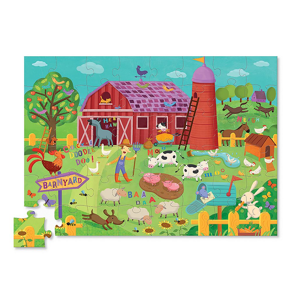 Crocodile Creek Barnyard Banter Double Fun 48-pc. Jigsaw Puzzle