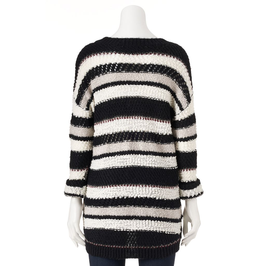 Women's Olivia Sky Striped Drop-Shoulder Crewneck Sweater