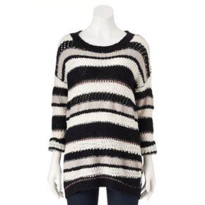 Women's Olivia Sky Striped Drop-Shoulder Crewneck Sweater