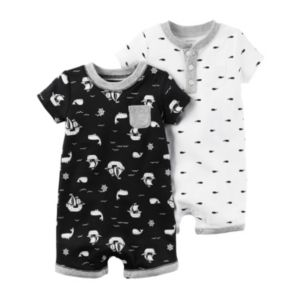 Baby Boy Carter's 2-pk. Treasure Island & Whale Rompers