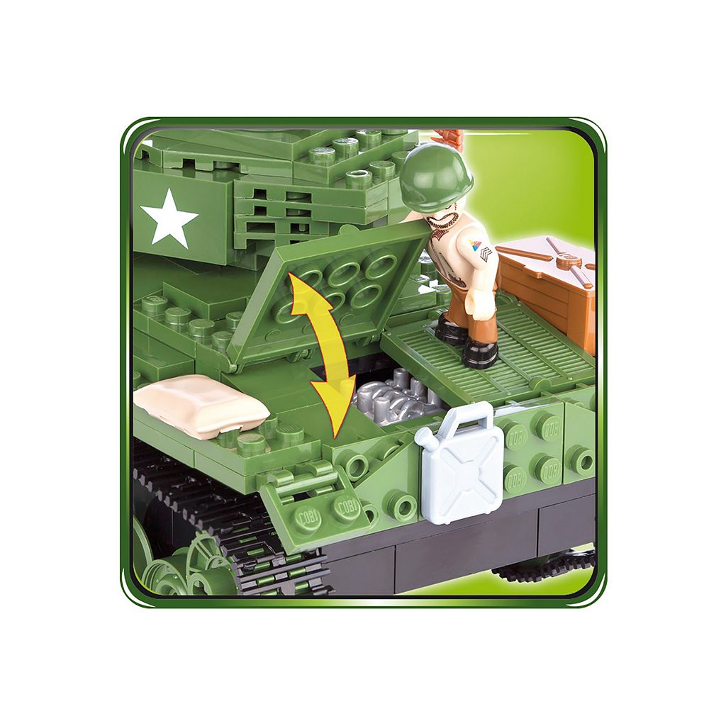 COBI Small Army American M24 Chaffee Construction Blocks Building Kit