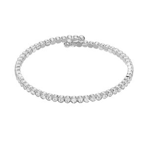 Silver Plated Crystal Coil Bracelet