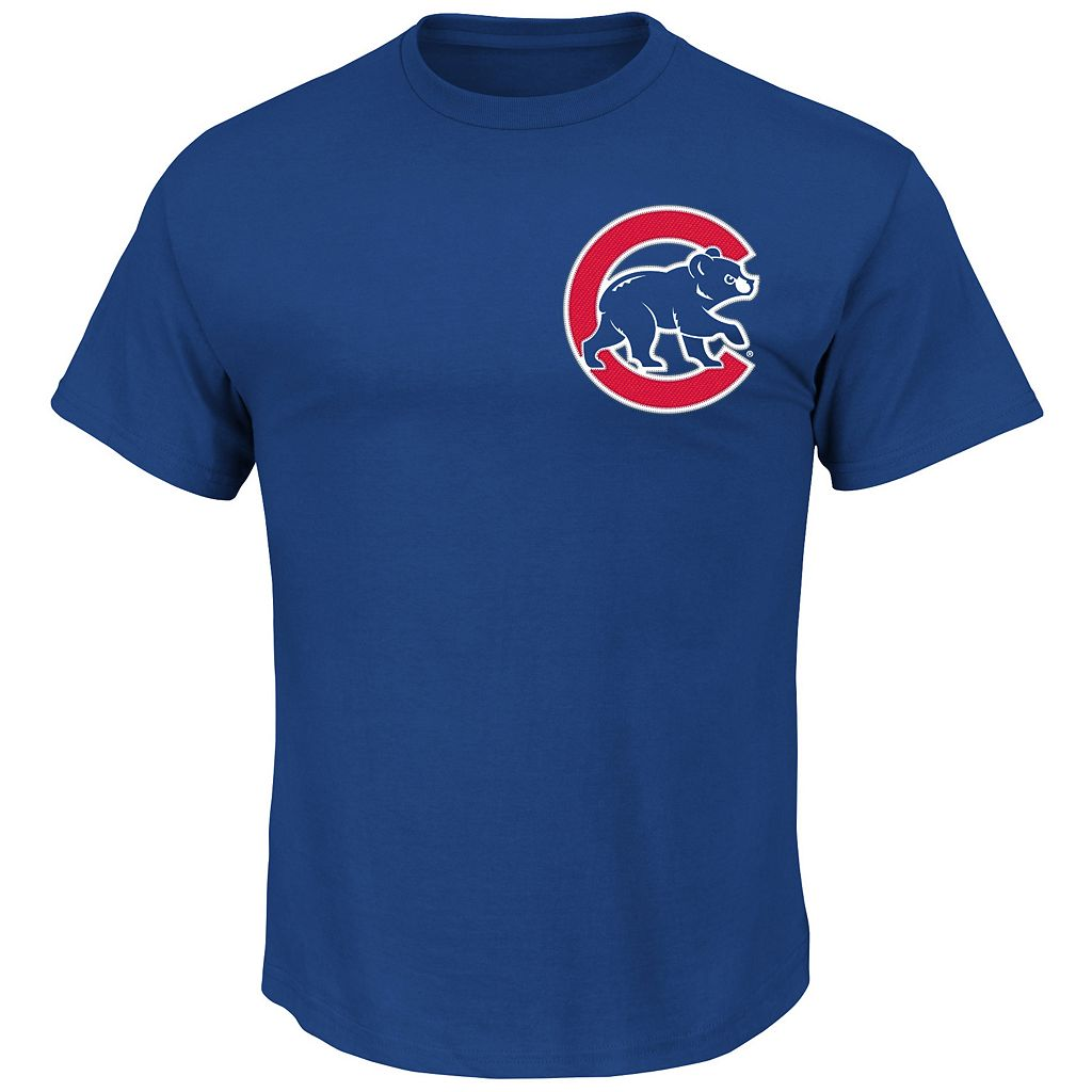 Big & Tall Majestic Chicago Cubs Jon Lester Player Name and Number Tee