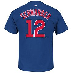 Big & Tall Majestic Chicago Cubs Kyle Schwarber Player Name and Number Tee