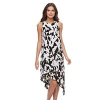 Petite Apt. 9® Printed Asymmetrical Crepe Dress