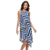 Petite Apt. 9® Printed Asymmetrical Crepe Dress