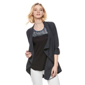 Women's Rock & Republic® Studded Asymmetrical Jacket