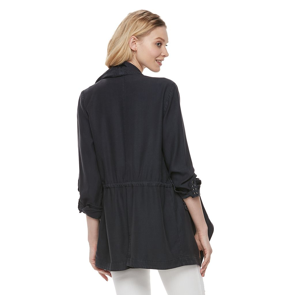 Women's Rock & Republic® Studded Asymmetrical Jacket