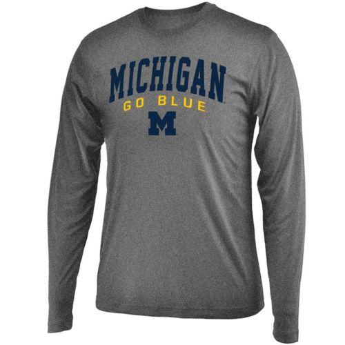 Men's Campus Heritage Michigan Wolverines Long-Sleeved Tee