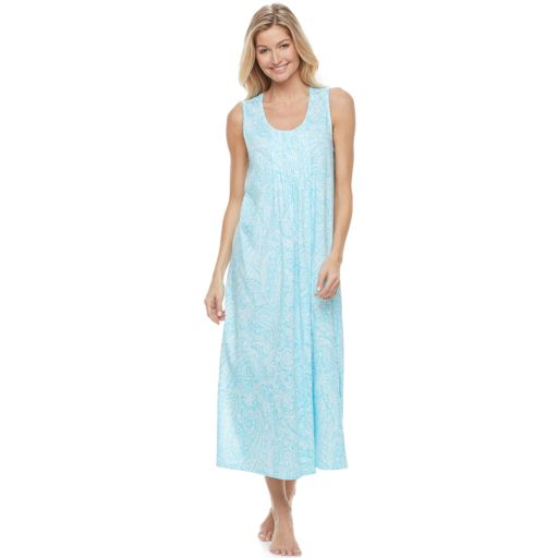 Women's Croft & Barrow® Pajamas: New Wave Tank Maxi Nightgown
