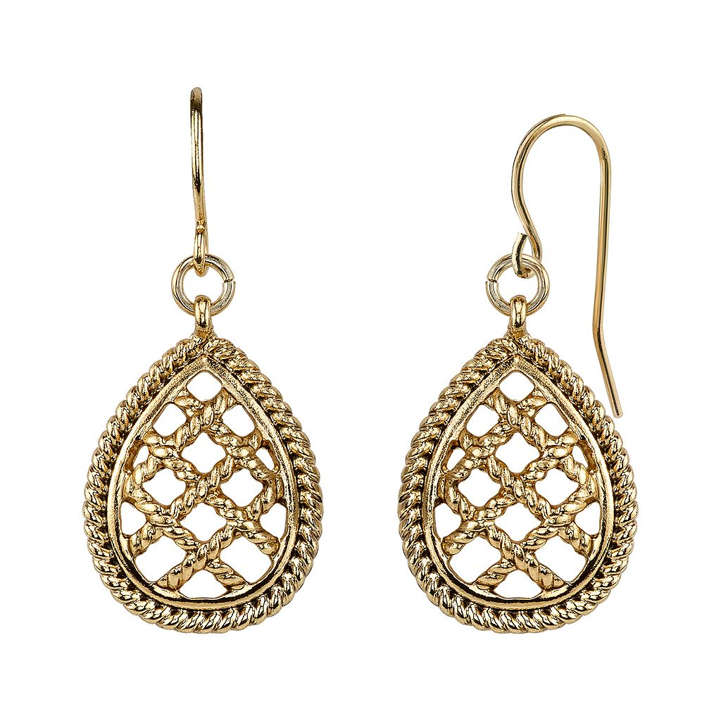 1928 Lattice Teardrop Earrings