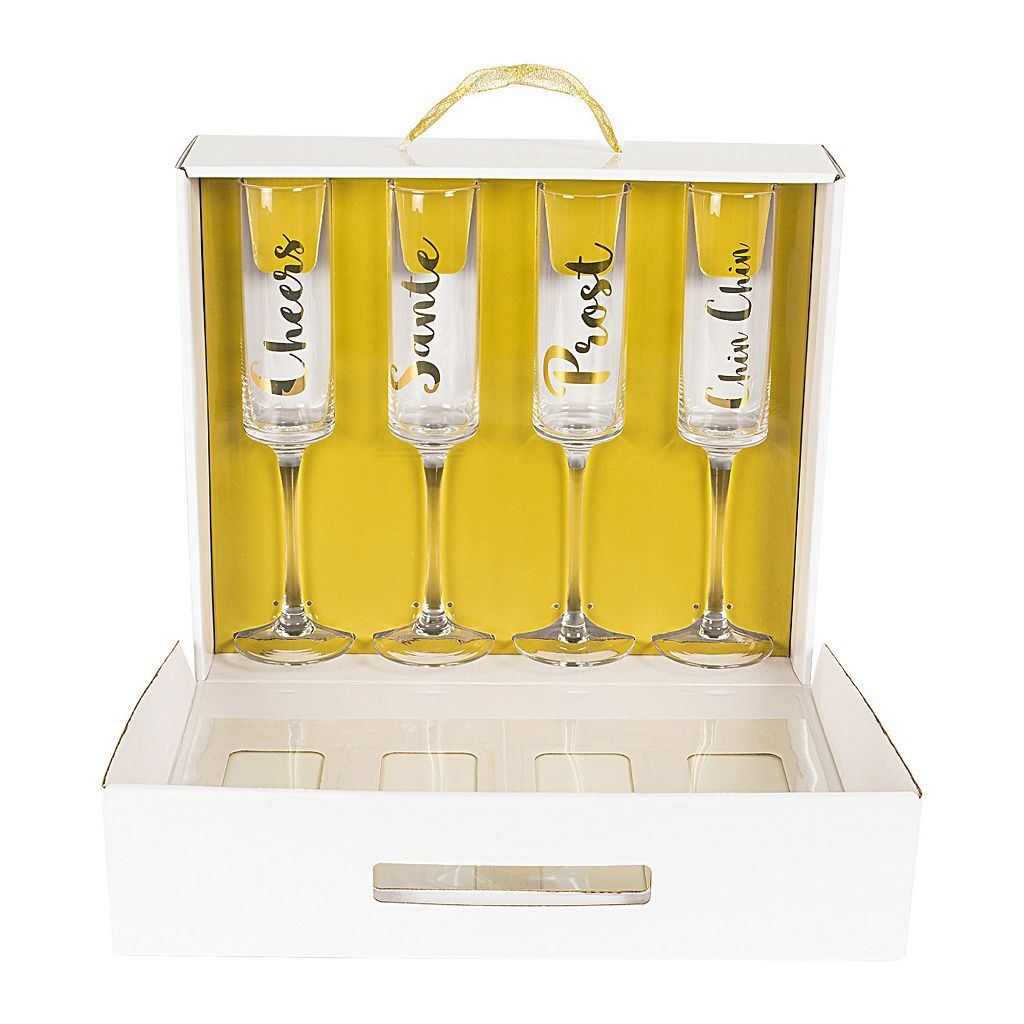 Cathy's Concepts Cheers 4-pc. Contemporary Champagne Flute Set