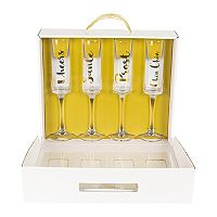 Cathy's Concepts Cheers 4 pc Contemporary Champagne Flute Set