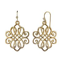 1928 Filigree Intertwined Drop Earrings