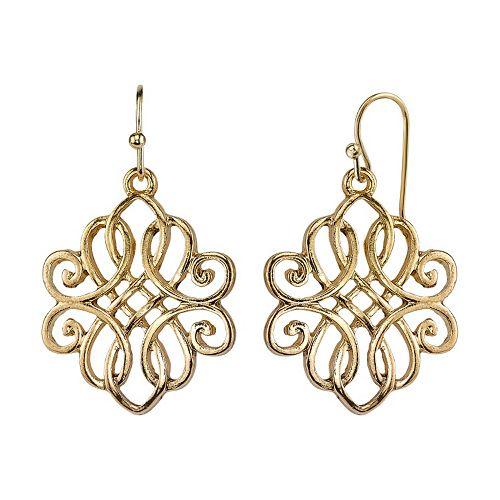 1928 Filigree Intertwined Drop Earrings