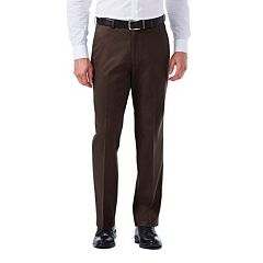 Men's Haggar Premium No-Iron Khaki Stretch Classic-Fit Flat-Front Pants