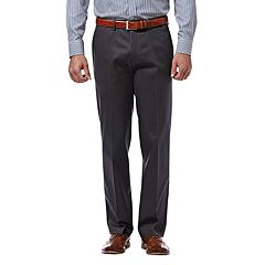 Men's Haggar® Premium No-Iron Khaki Stretch Classic-Fit Flat-Front Expandable Waist Pants