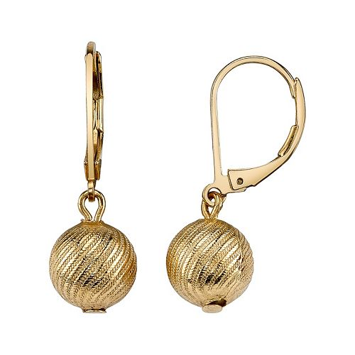 1928 Textured Ball Drop Earrings