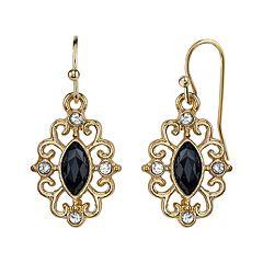 1928 Filigree Marquise Drop Earrings