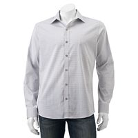 Men's Van Heusen Flex Slim-Fit Stretch Plaid Button-Down Shirt