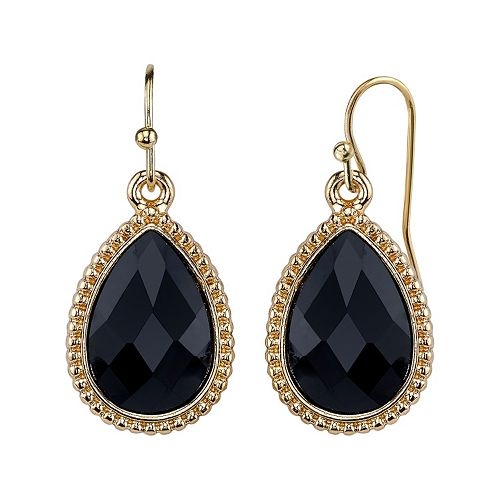 1928 Faceted Teardrop Earrings