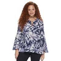 Plus Size Rock & Republic® O-Ring Crepe Top
