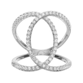 Fleur Cubic Zirconia Overlapping Loop Ring