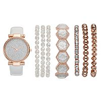 Women's Glittery Watch & Bracelet Set
