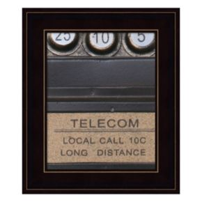 Old Vintage Pay Phone I Framed Wall Art
