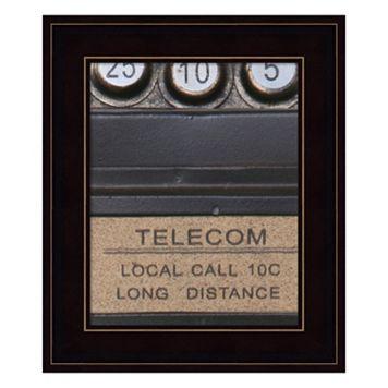 Old Vintage Pay Phone I Framed Wall Art