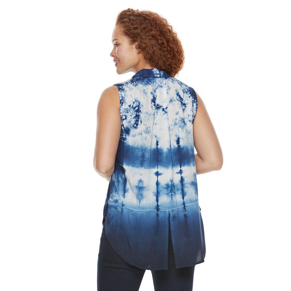 Plus Size Rock & Republic® Tie-Dye Shirt