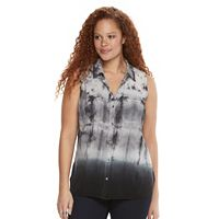 Plus Size Rock & Republic® Tie-Dye Shirt