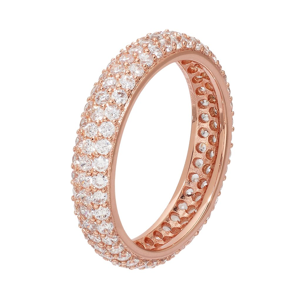 Fleur Cubic Zirconia Pave Ring