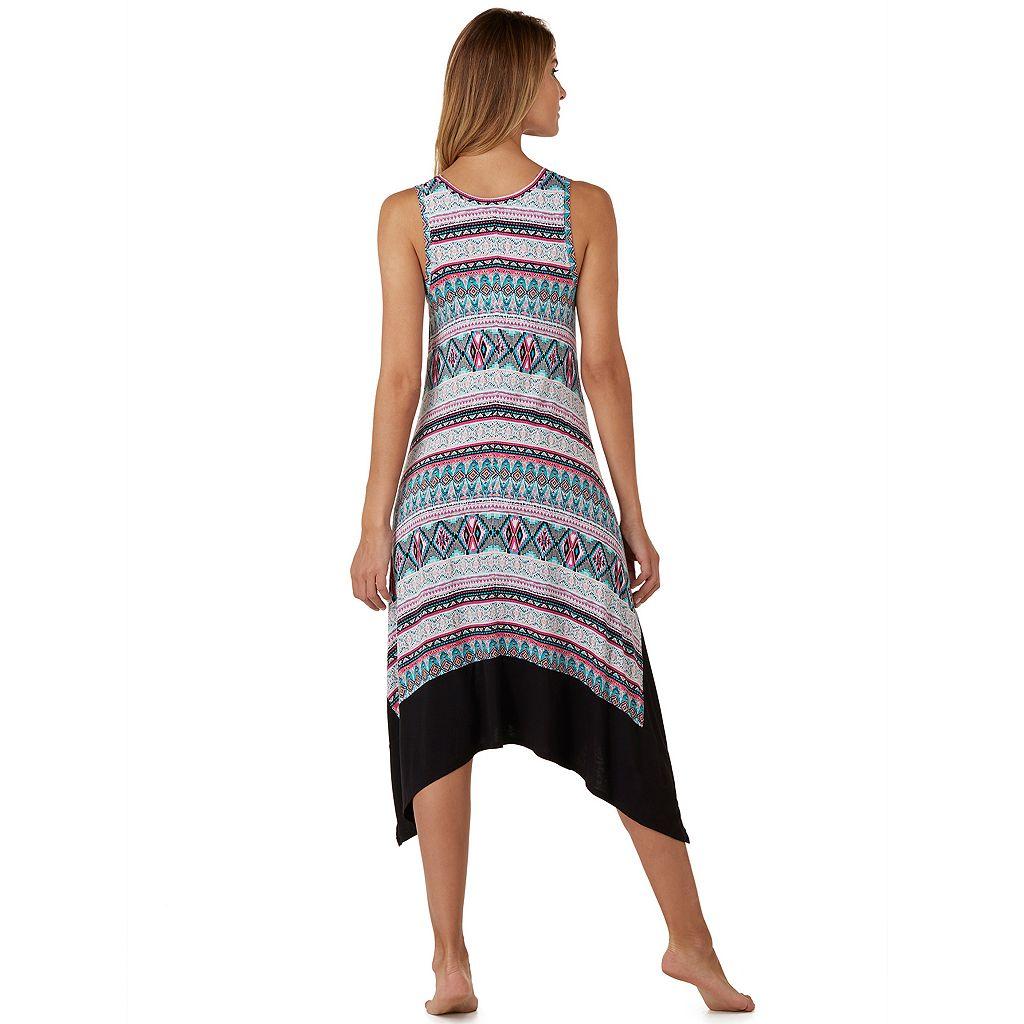 Women's Cuddl Duds Pajamas: Color Fusion Tank Maxi Dress