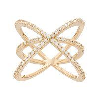 Fleur Cubic Zirconia Crisscross Ring