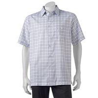 Men's Haggar Classic-Fit Microfiber Easy-Care Button-Down Shirt