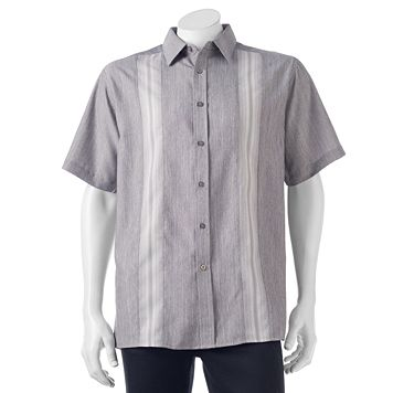 Men's Haggar Classic-Fit Microfiber Easy-Care Button-Down Shirt